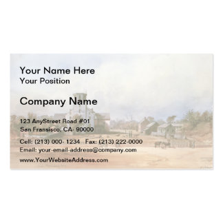 Karl Bodmer- The church of New Harmony Business Card Templates