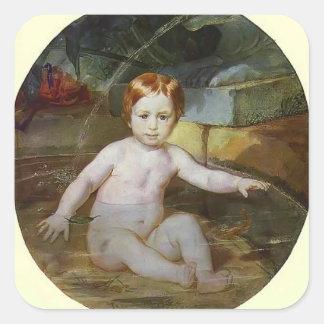 Karl Bryullov- Child in a Swimming Pool Sticker