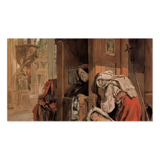 Karl Bryullov- Confession of an Italian Woman Business Cards