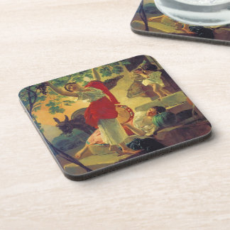 Karl Bryullov- Girl Gathering Grapes in a Suburb Beverage Coaster