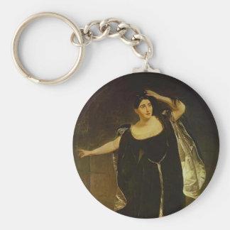 Karl Bryullov-Portrait of Actress Juditta Pasta Key Chains