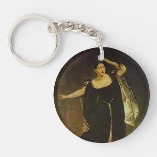 Karl Bryullov-Portrait of Actress Juditta Pasta Acrylic Keychains