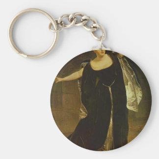 Karl Bryullov-Portrait of Actress Juditta Pasta Key Chain