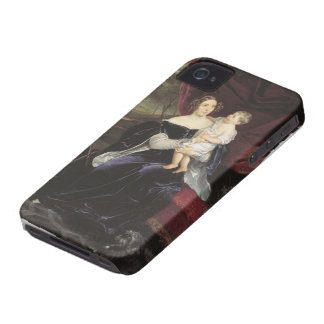 Karl Bryullov-Portrait of Countess & Her Daughter iPhone 4 Case-Mate Cases