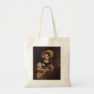 Karl Bryullov-Portrait of Singer Fanny Tacinardi Tote Bags