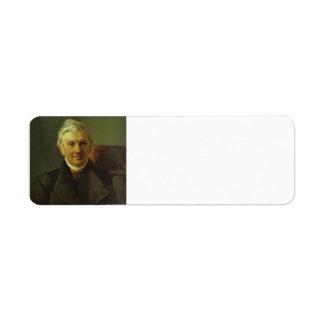 Karl Bryullov- Portrait of the Professor Return Address Labels