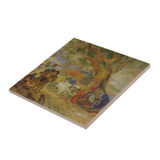 Karl Bryullov- Sweet Waters Near Constantinople Ceramic Tiles