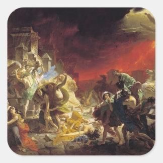 Karl Bryullov- The Last Day of Pompeii Square Sticker