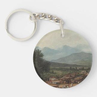 Karl Bryullov- Village of San Rocco, Town of Corfu Single-Sided Round Acrylic Keychain
