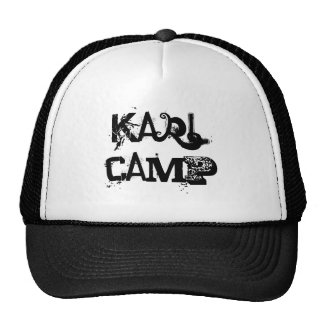 Karl Camp custom hat by  Wastelandmusic.com