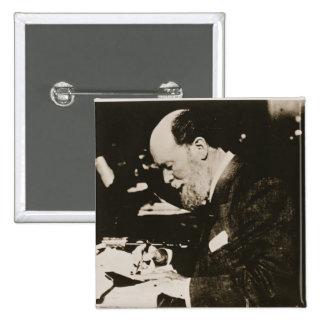 Karl Faberge (1846-1920) at work, 20th century (b/ Button