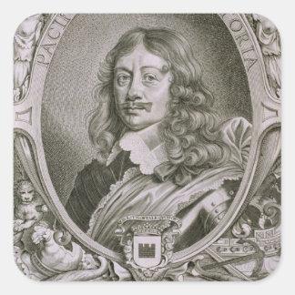 Karl Gustav Wrangel (1603-73) from 'Portraits des Square Sticker