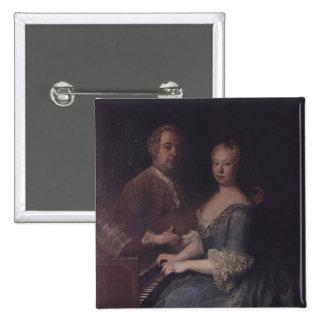 Karl-Heinrich Graun and his wife Anna-Louise Pinback Button