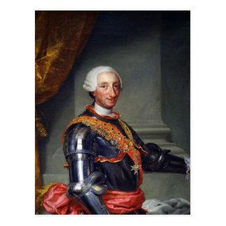 karl iii king spain 1761 portrait postcard