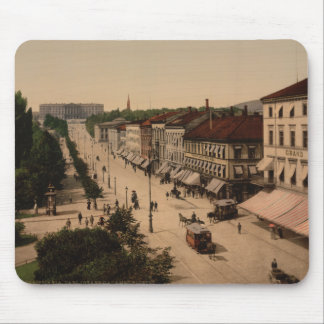 Karl Johans Gade and Slottet, Oslo, Norway Mouse Pad