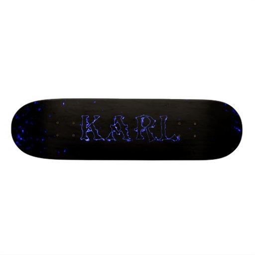 karl lightning laser custom skateboard deck