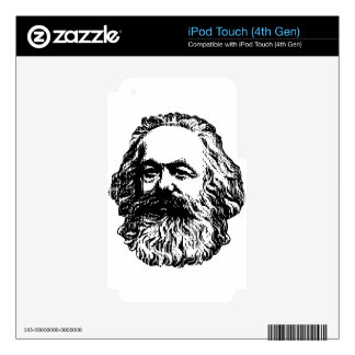 Karl Marx -4jtd4 Skins For iPod Touch 4G