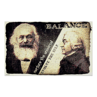 Karl Marx and Adam Smith, the zen of .. (old rip) Poster