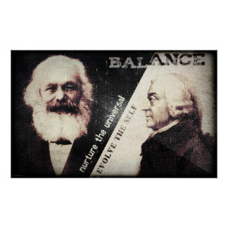 Karl Marx and Adam Smith, the zen of Poster