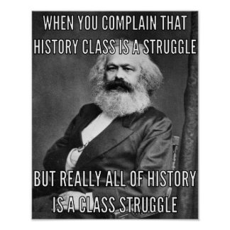 Karl Marx and the struggle Poster