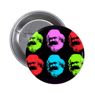 Karl Marx Collage Button