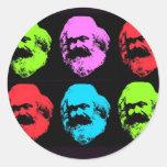 Karl Marx Collage Classic Round Sticker