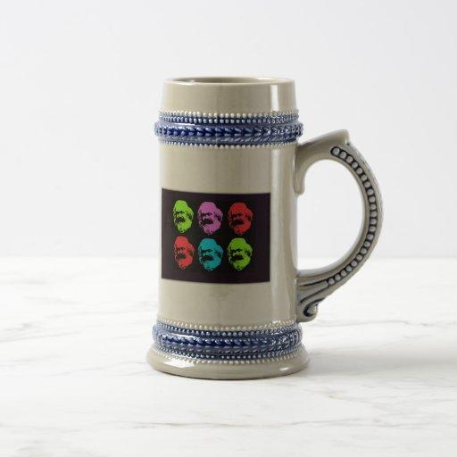 Karl Marx Collage Coffee Mugs