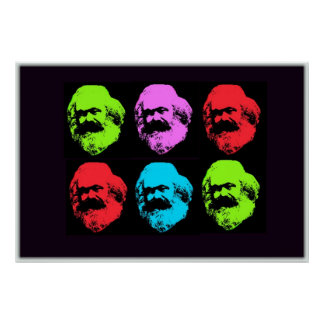 Karl Marx Collage Poster
