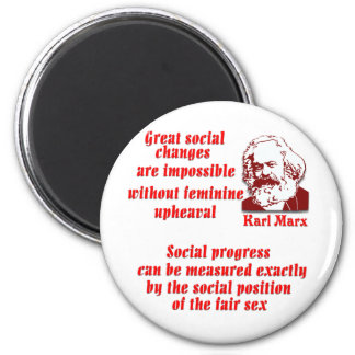 Karl Marx en mujeres Imán Redondo 5 Cm
