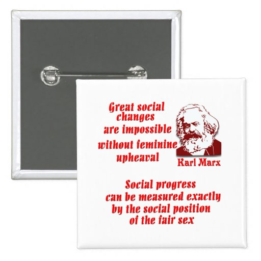 Karl Marx en mujeres Pins