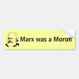Karl Marx era un Imbécil Pegatina Para Auto