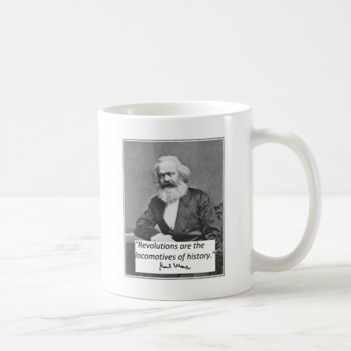 "Karl Marx Mug: ""Revolutions"""