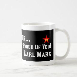 Karl Marx: ¡Orgulloso de Barack! Taza