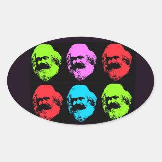 Karl Marx Pegatina Ovalada