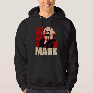 Karl Marx Portrait - Socialist and Communist Hooded Sweatshirt
