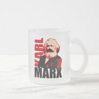 Karl Marx Portrait, Socialist Frosted Glass Coffee Mug