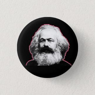Karl Marx red outline/black Button