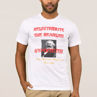 ¡Karl Marx-REDISTRIBUYE la BARBA!!!! Playera