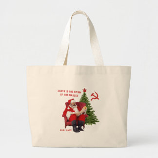 Karl Marx Santa Large Tote Bag