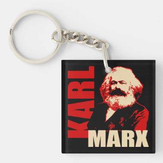 Karl Marx, Socialist & Communist Double-Sided Square Acrylic Keychain