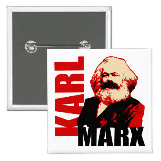 Karl Marx, Socialist & Communist Pinback Button