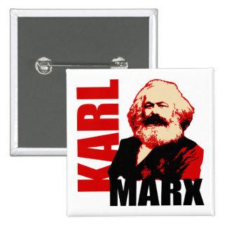 Karl Marx, socialista y comunista Pin Cuadrada 5 Cm