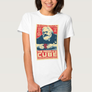 Karl Marx - The People's Cube: OHP Ladies Top T Shirts