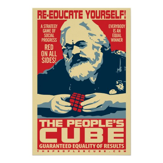 Karl Marx - The People's Cube: OHP Poster   Zazzle