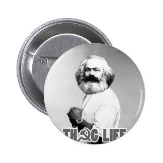 Karl Marx Thug Life Pinback Button