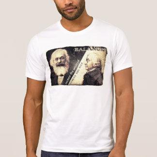 Karl Marx v Adam Smith, the zen of - words on back Tee Shirt