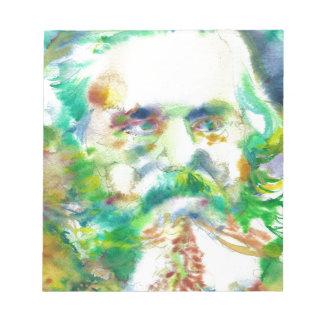 karl marx - watercolor portrait notepad