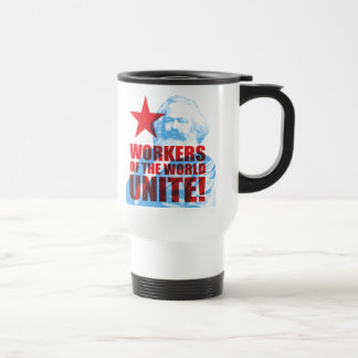 Karl Marx Workers of the World Unite! 15 Oz Stainless Steel Travel Mug