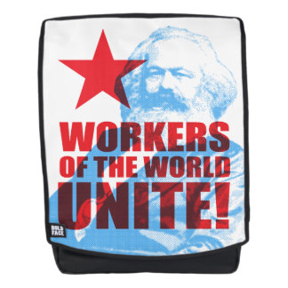 Karl Marx Workers of the World Unite! Backpack