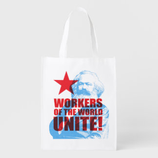 Karl Marx Workers of the World Unite! Reusable Grocery Bag